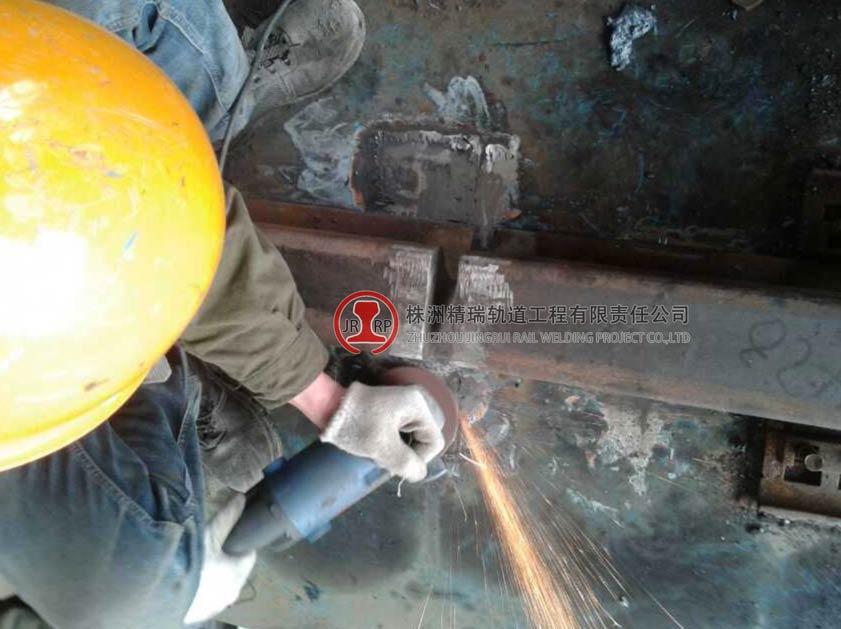 江苏沙钢轨道焊接现场