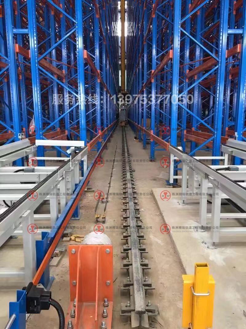 铁建重工堆垛机轨道安装现场